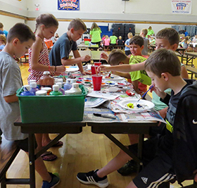 Children painting and crafts