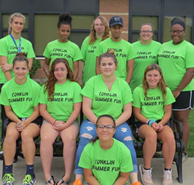 Group of Conklin Summer Fun student staff